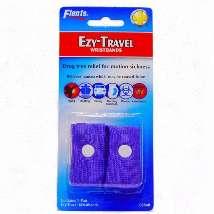 FLENTS EZY - TRAVEL DRUG FREE RELIEF PREVENT MOTION MORNING SICKNESS NAUSEA VOMITING RIDING FLYING BOATING CHEMOTHERAPY ANESTHESIA WRIST BAND