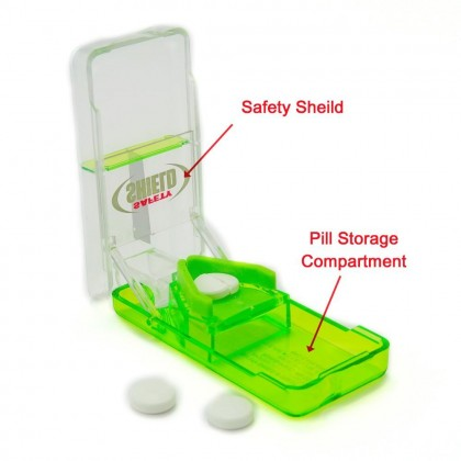 EZY DOSE Safety Sheild Pill Tablet Cutter Splitter