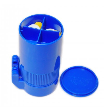 EZY DOSE Deluxe Cut N' Crush Pill Tablet Crusher Cutter Cup Box