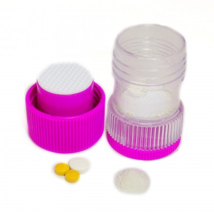 EZY DOSE Build - In Storage Pill Tablet Crusher Mortar Pestle