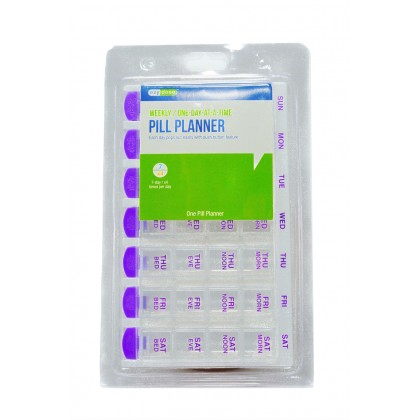 EZY Dose Weekly One Day At A Time Pill Planner Box Container Organizer