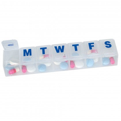 1.EZY DOSE WEEKLY CLASSIC PILL PLANNER BOX CONTAINER ORGANIZER MEDIUM