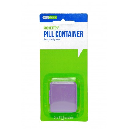 EZY DOSE POCKETTES PILL CONTAINER ORGANIZER BOX