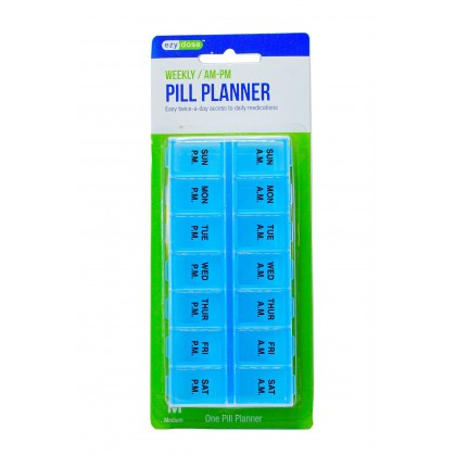 EZY DOSE WEEKLY AM PM PILL PLANNER CONTAINER ORGANIZER BOX