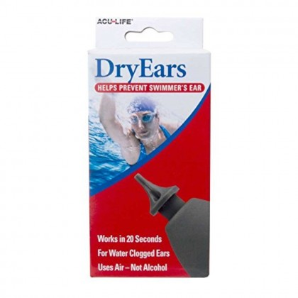 ACU-LIFE DRY EARS FOR EAR DRYING PREVENT SWIMMER'S EAR WATER CLOGGED EARS
