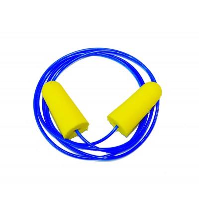 SILENT JUNCTION X'TREME QUIET EARPLUG SAFE SOFT COMFORT DISPOSABLE FOAM NOISE EARPLUGS SLEEP STUDY SPORTS WORK PROTECTION EAR PLUG 33 DECIBELS 1 PAIR WIRE CORDED EAR PLUGS