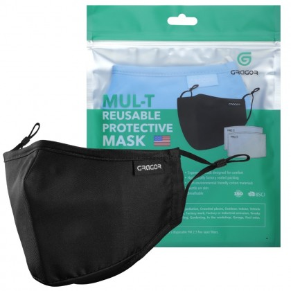GRAGOR 3 PLY FACE MASK | FDA| WHO Guidelines| WASHABLE REUSABLE ADULTS COTTON PELITUP MUKA POLYESTER CM6193